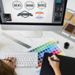 طراحی لوگو و ست اداری - تبلیغات رافدین